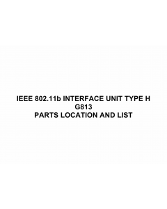 RICOH Options G813 IEEE-802.11b-INTERFACE-UNIT-TYPE-H Parts Catalog PDF download