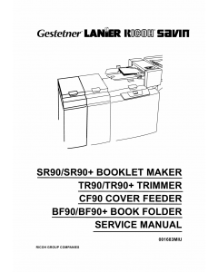 RICOH Options SR90 TR90 CF90 BF90 BOOKLET-MAKER TRIMMER COVER-FEEDER Service Manual PDF download
