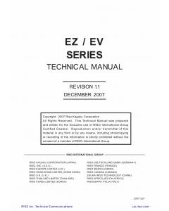 RISO EV 2560 2590 3560 3760 3790 5790 TECHNICAL Service Manual