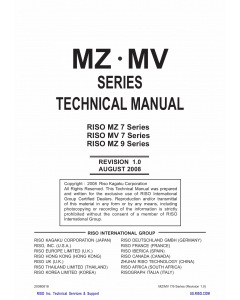 RISO MZ 770 790 970 990 MV-7690 TECHNICAL Service Manual