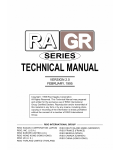 RISO RA 4200 4900 5900 GR 3750 2750 2710 1750 1700 TECHNICAL Service Manual