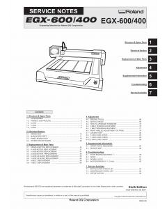 Roland EGX 600 400 Service Notes Manual