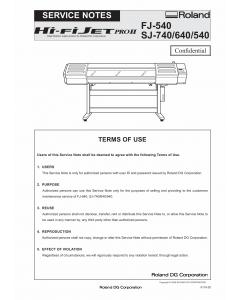 Roland Hi-Fi-JET-Pro2 SJ 740 640 540 FJ-540 Service Notes Manual