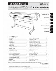 Roland Hi-Fi-JET-Pro FJ 600 500 400 Service Notes Manual