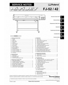 Roland Hi-Fi-JET FJ 52 42 Service Notes Manual