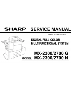 SHARP MX 2300 2700 N G Service Manual