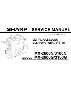 SHARP MX 2600 3100 N G Service Manual