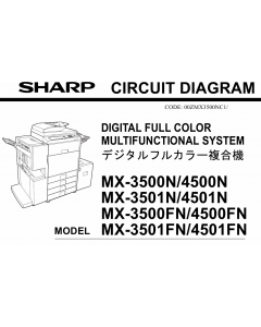 SHARP MX 3500 3501 4500 4501 FN-N Circuit Diagrams
