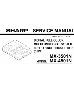SHARP MX 3501 4501 N Service Manual