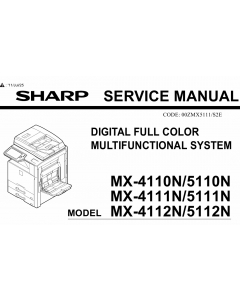 SHARP MX 4110 4111 4112 5110 5111 5112 N Service Manual