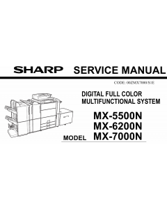 SHARP MX 5500 6200 7000 N Service Manual