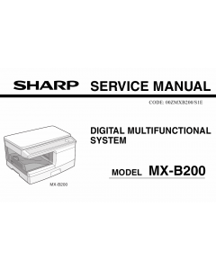 SHARP MX B200 Service Manual