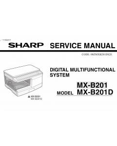 SHARP MX B201 B201D Service Manual