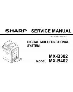 SHARP MX B382 B402 Service Manual