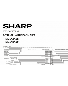 SHARP MX C380 C400 P Wiring Chart Diagrams