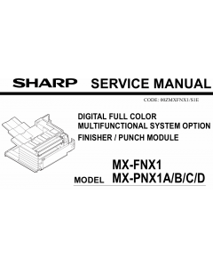 SHARP MX FNX1 PNX1 Service Manual