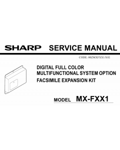 SHARP MX FXX1 Service Manual