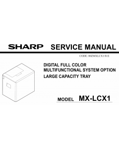 SHARP MX LCX1 Service Manual