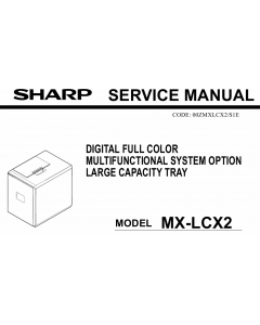 SHARP MX LCX2 Service Manual