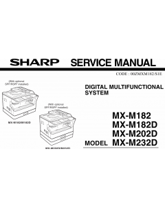 SHARP MX M182 182D 202D 232D Service Manual