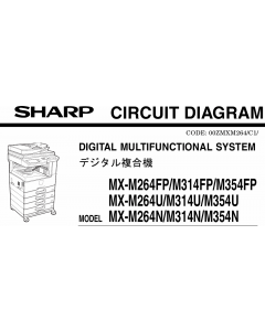 SHARP MX M264 314 354 U-N-FP Circuit Diagrams