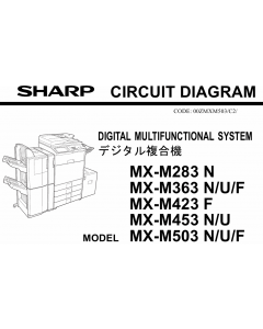 SHARP MX M283 M363 M453 M503 N U F Circuit Diagrams