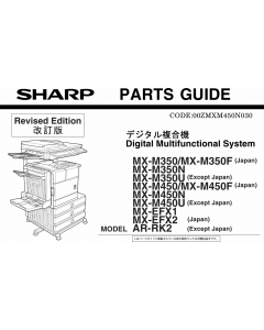 SHARP MX M350 M450 N U Parts Manual