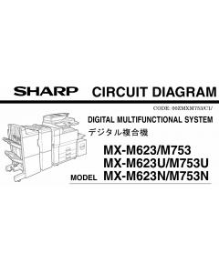 SHARP MX M623 M753 N U Circuit Diagrams