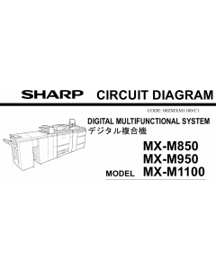 SHARP MX M850 M950 M1100 Circuit Diagrams