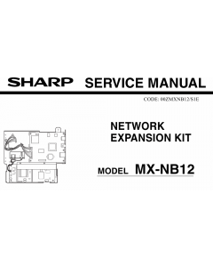 SHARP MX NB12 Service Manual