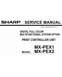 SHARP MX PEX1 PEX2 Service Manual