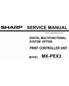 SHARP MX PEX3 Service Manual