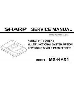 SHARP MX RPX1 Service Manual