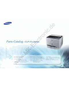 Samsung Color-Laser-Printer CLP-315 Parts Manual