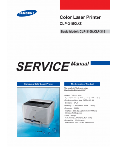 Samsung Color-Laser-Printer CLP-315 Parts and Service Manual