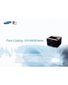 Samsung Color-Laser-Printer CLP-320 325 Parts Manual