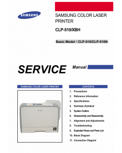 Samsung Color-Laser-Printer CLP-510 510N Parts and Service Manual