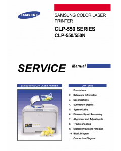 Samsung Color-Laser-Printer CLP-550 550N Parts and Service Manual