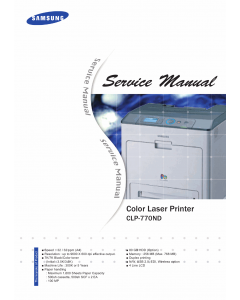Samsung Color-Laser-Printer CLP-770ND Parts and Service Manual