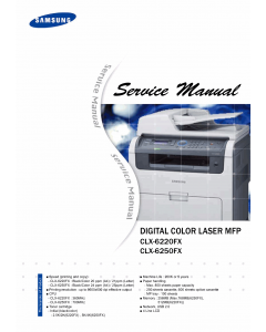 Samsung Digital-Color-Laser-MFP CLX-6220FX 6250FX Parts and Service Manual