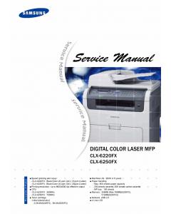 Samsung Digital-Color-Laser-MFP CLX-6220FX 6250FX Parts and Service Manual