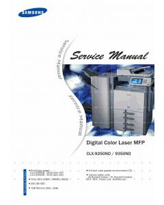 Samsung Digital-Color-Laser-MFP CLX-92509 9359 Service Manual