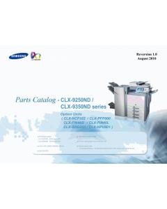 Samsung Digital-Color-Laser-MFP CLX-9250ND 9350ND Options Parts Manual