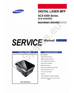 Samsung Digital-Laser-MFP SCX-4300 Parts Manual