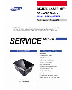 Samsung Digital-Laser-MFP SCX-4300 Parts and Service Manual
