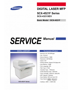 Samsung Digital-Laser-MFP SCX-4521F 4321 Parts and Service Manual
