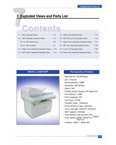 Samsung Digital-Laser-MFP SCX-4521 Parts Manual
