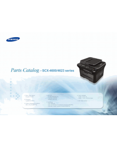 Samsung Digital-Laser-MFP SCX-4600 4623 Parts Manual