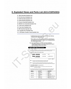 Samsung Digital-Laser-MFP SCX-4720FN Parts Manual