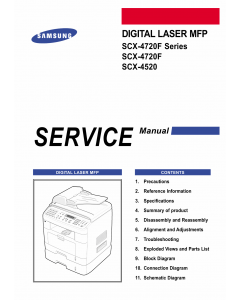 Samsung Digital-Laser-MFP SCX-4720F 4520 Parts and Service Manual